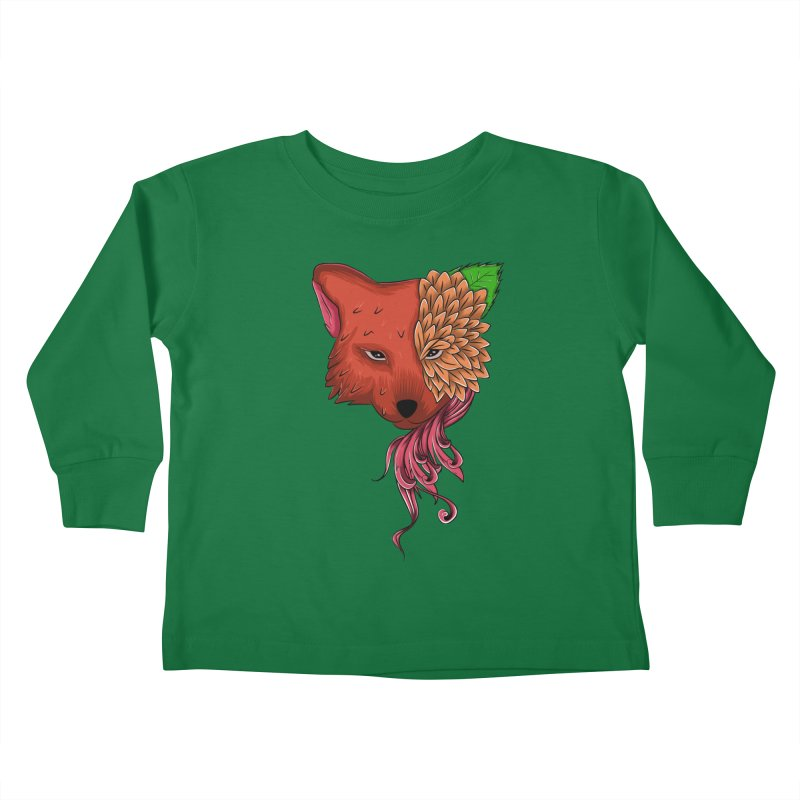 Fox flower Kids Toddler Longsleeve T-Shirt by damian's Artist Shop