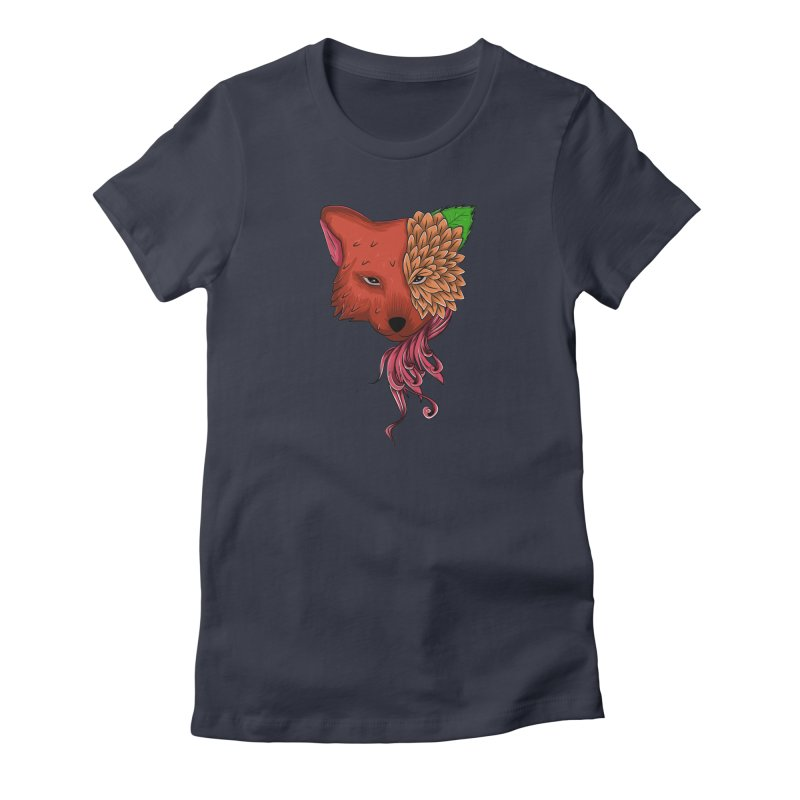 Fox flower Women's T-Shirt by damian's Artist Shop