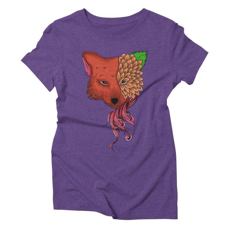 Fox flower Women's Triblend T-shirt by damian's Artist Shop