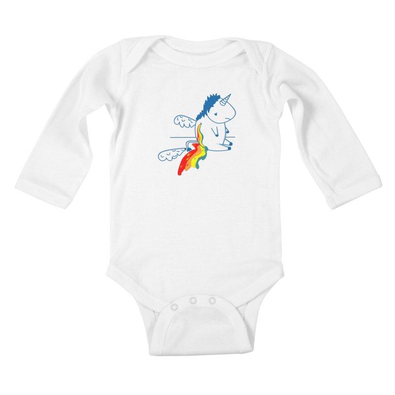 UNICORNIO  ARCOIRIS Kids Baby Longsleeve Bodysuit by damian's Artist Shop