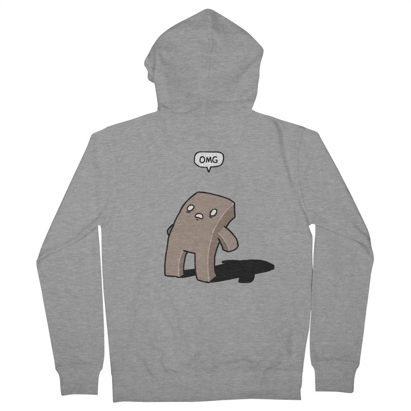 Oh The Humanity Women's French Terry Zip-Up Hoody by Damien Mason's Artist Shop