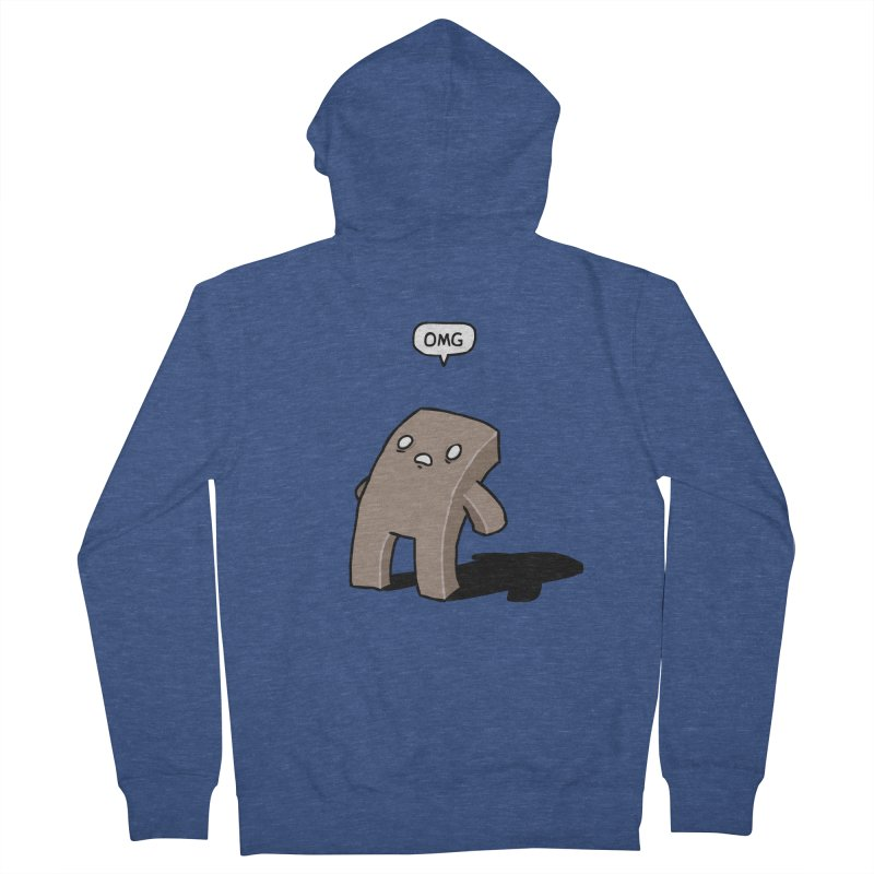 Oh The Humanity Men's French Terry Zip-Up Hoody by Damien Mason's Artist Shop