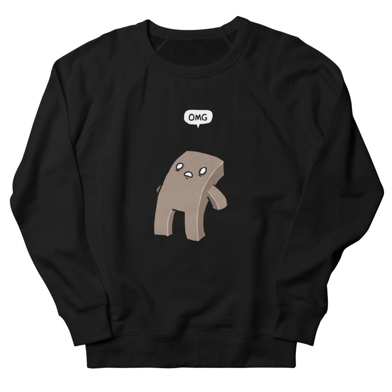 Oh The Humanity Men's French Terry Sweatshirt by Damien Mason's Artist Shop