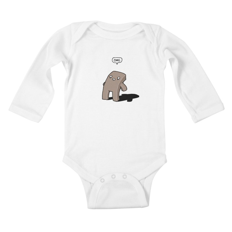 Oh The Humanity Kids Baby Longsleeve Bodysuit by Damien Mason's Artist Shop