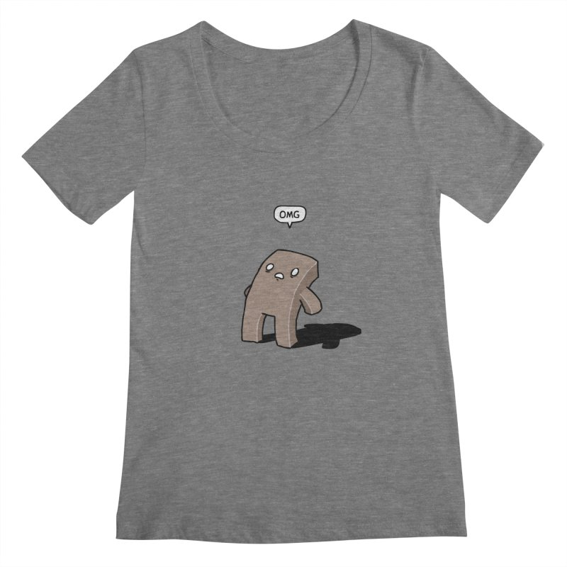 Oh The Humanity Women's Scoopneck by Damien Mason's Artist Shop