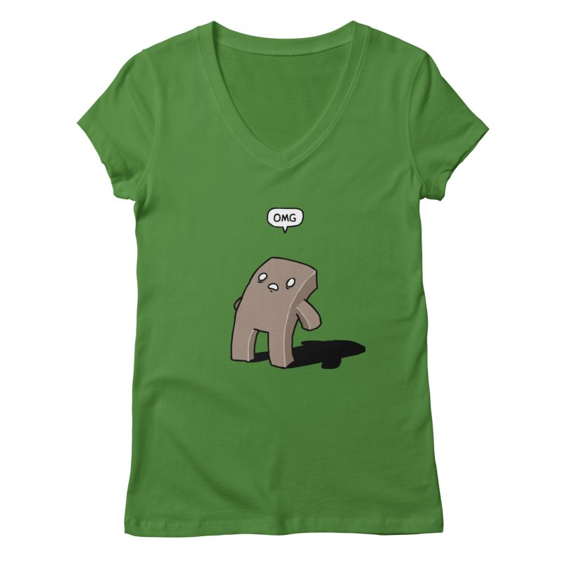 Oh The Humanity Women's V-Neck by Damien Mason's Artist Shop