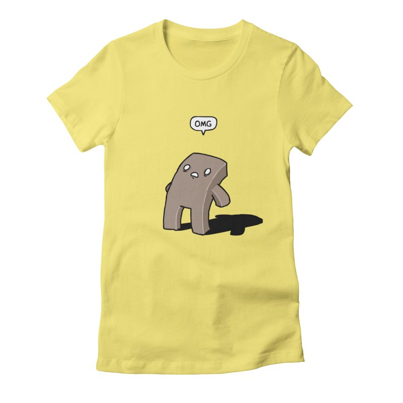 Oh The Humanity Women's Fitted T-Shirt by Damien Mason's Artist Shop