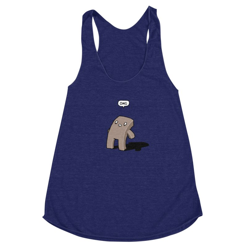 Oh The Humanity Women's Racerback Triblend Tank by Damien Mason's Artist Shop