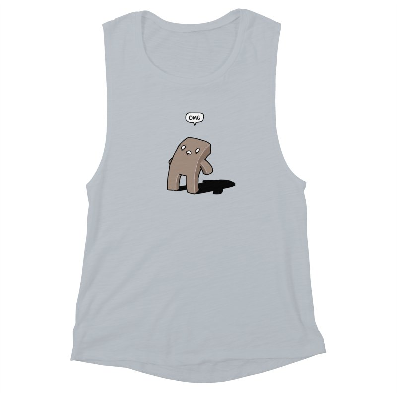Oh The Humanity Women's Muscle Tank by Damien Mason's Artist Shop