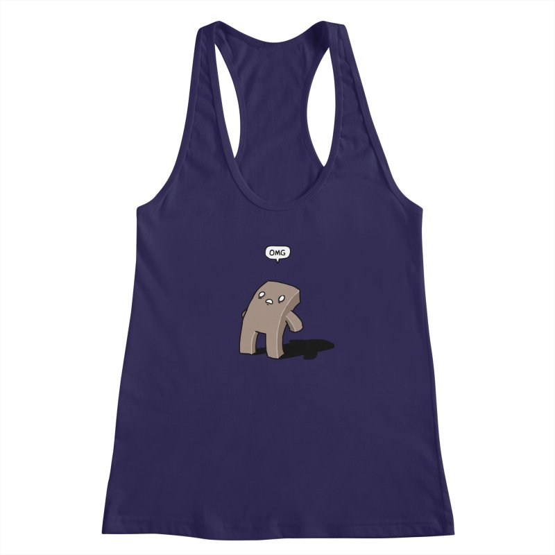 Oh The Humanity Women's Racerback Tank by Damien Mason's Artist Shop
