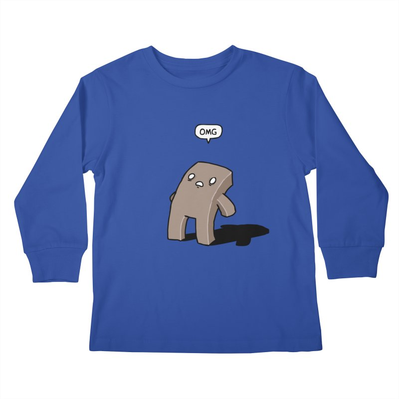Oh The Humanity Kids Longsleeve T-Shirt by Damien Mason's Artist Shop