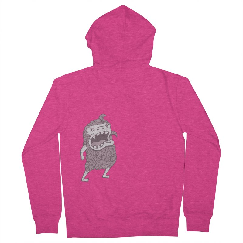 Sasquatch Women's French Terry Zip-Up Hoody by Damien Mason's Artist Shop