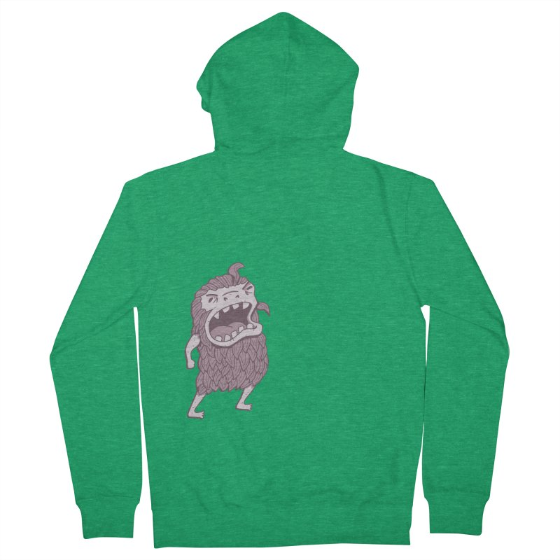 Sasquatch Men's French Terry Zip-Up Hoody by Damien Mason's Artist Shop