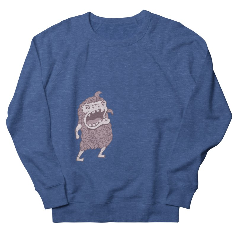 Sasquatch Women's French Terry Sweatshirt by Damien Mason's Artist Shop