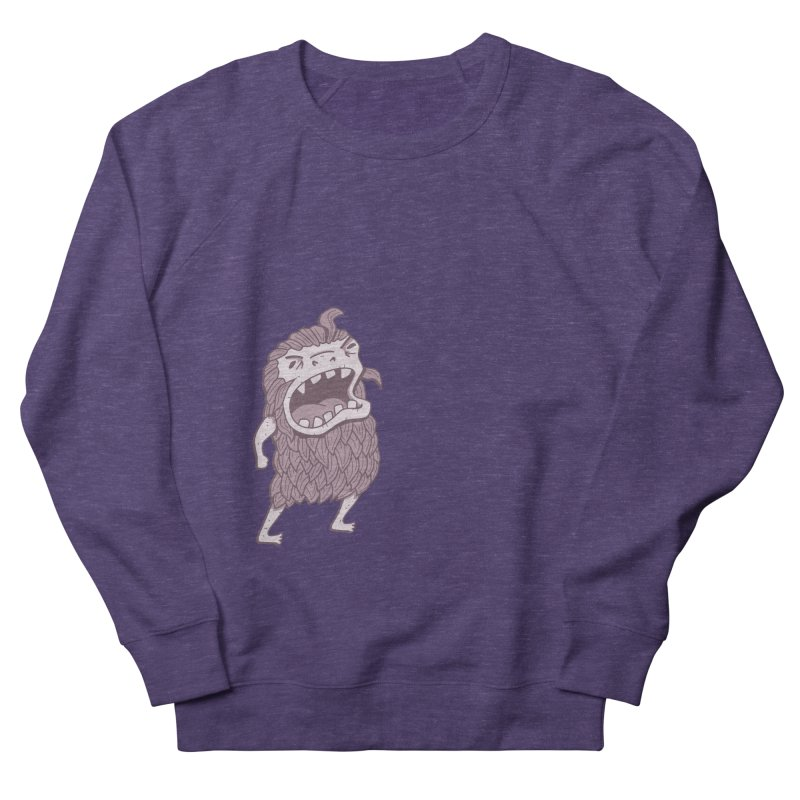 Sasquatch Men's French Terry Sweatshirt by Damien Mason's Artist Shop