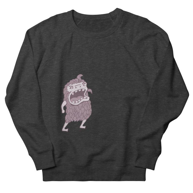 Sasquatch Men's French Terry Sweatshirt by Damien Mason's Artist Shop