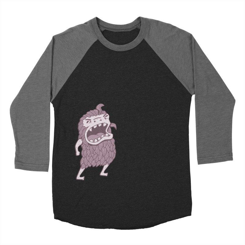 Sasquatch Women's Baseball Triblend Longsleeve T-Shirt by Damien Mason's Artist Shop
