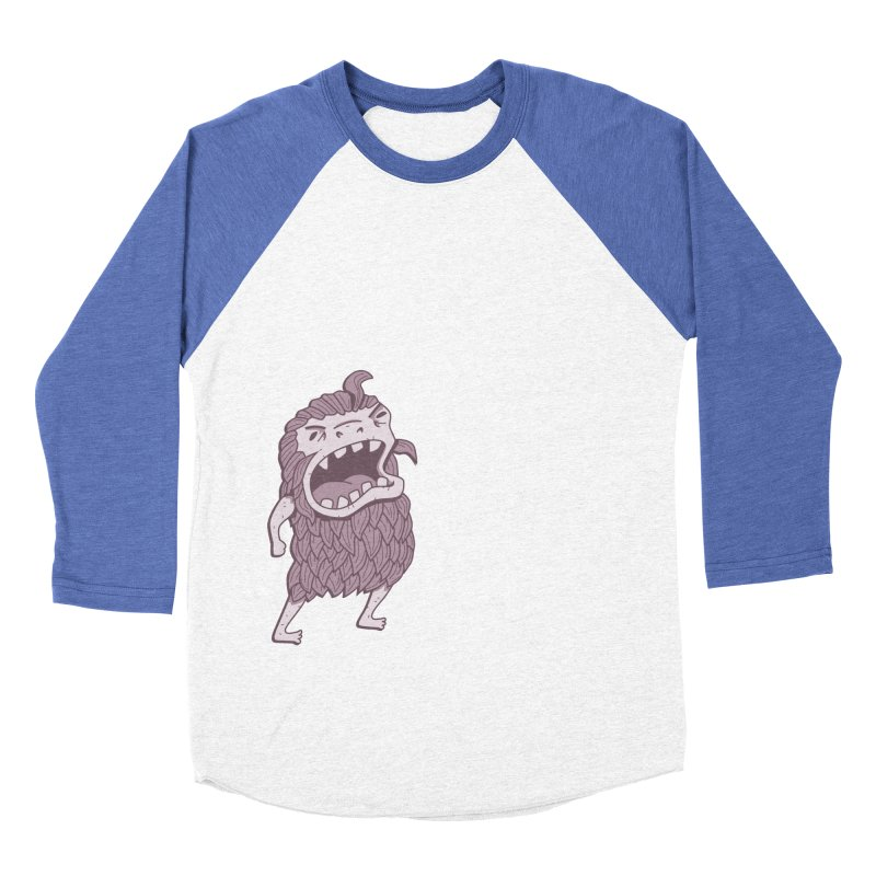 Sasquatch Men's Baseball Triblend Longsleeve T-Shirt by Damien Mason's Artist Shop