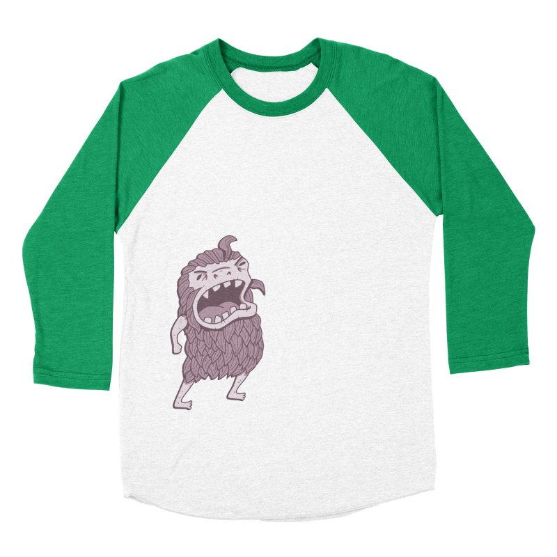 Sasquatch Men's Baseball Triblend Longsleeve T-Shirt by Damien Mason's Artist Shop