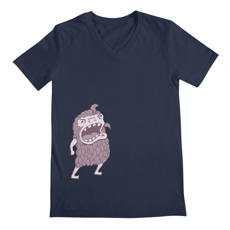 Sasquatch Men's Regular V-Neck by Damien Mason's Artist Shop