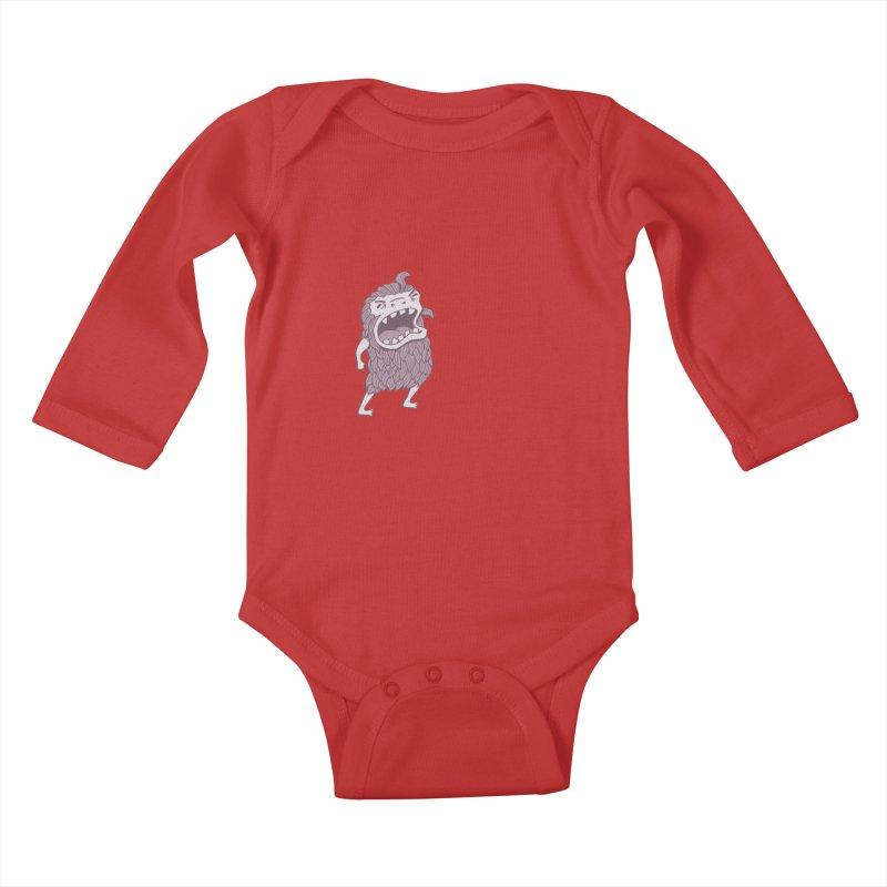 Sasquatch Kids Baby Longsleeve Bodysuit by Damien Mason's Artist Shop