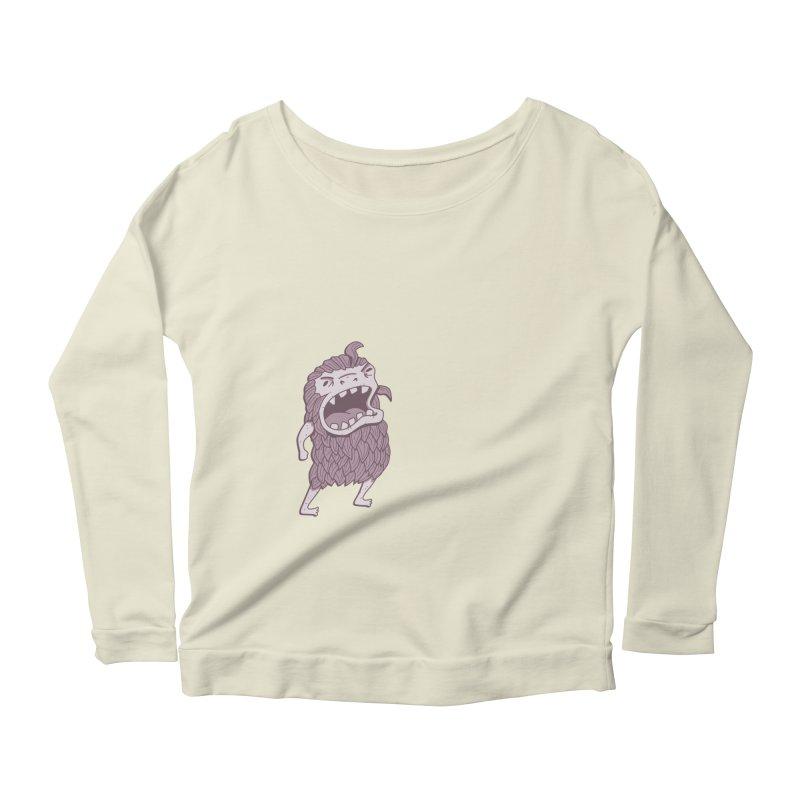 Sasquatch Women's Scoop Neck Longsleeve T-Shirt by Damien Mason's Artist Shop
