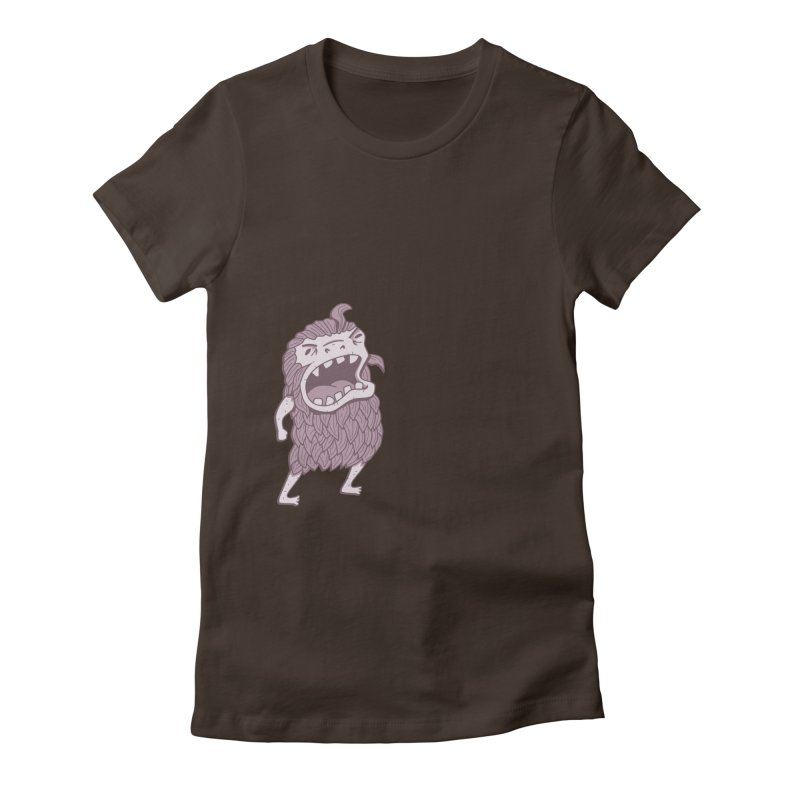 Sasquatch Women's Fitted T-Shirt by Damien Mason's Artist Shop