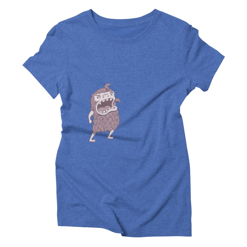 Sasquatch Women's Triblend T-Shirt by Damien Mason's Artist Shop