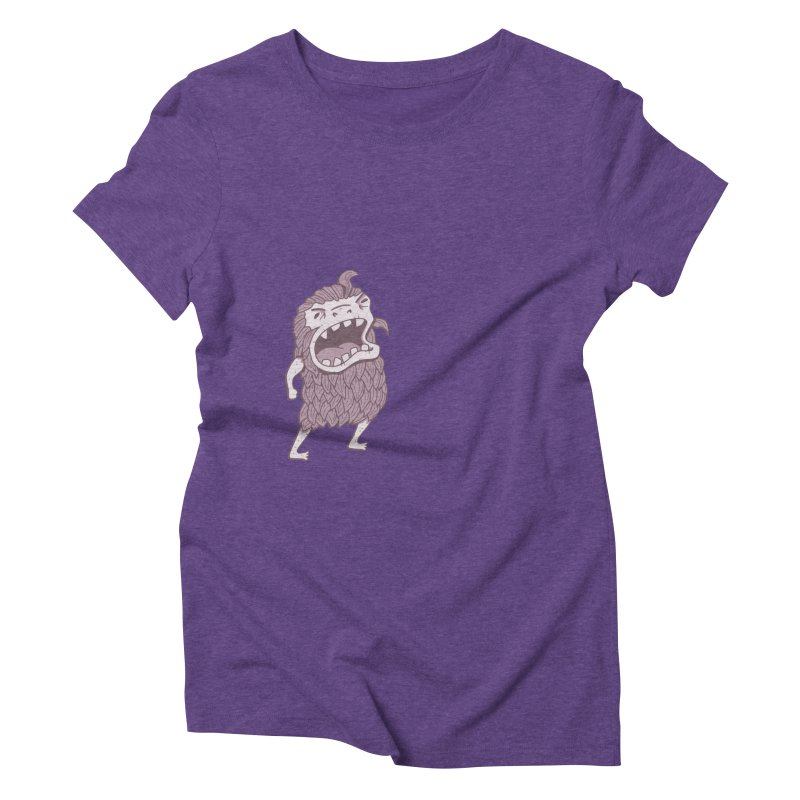 Sasquatch Women's Triblend T-Shirt by Damien Mason's Artist Shop