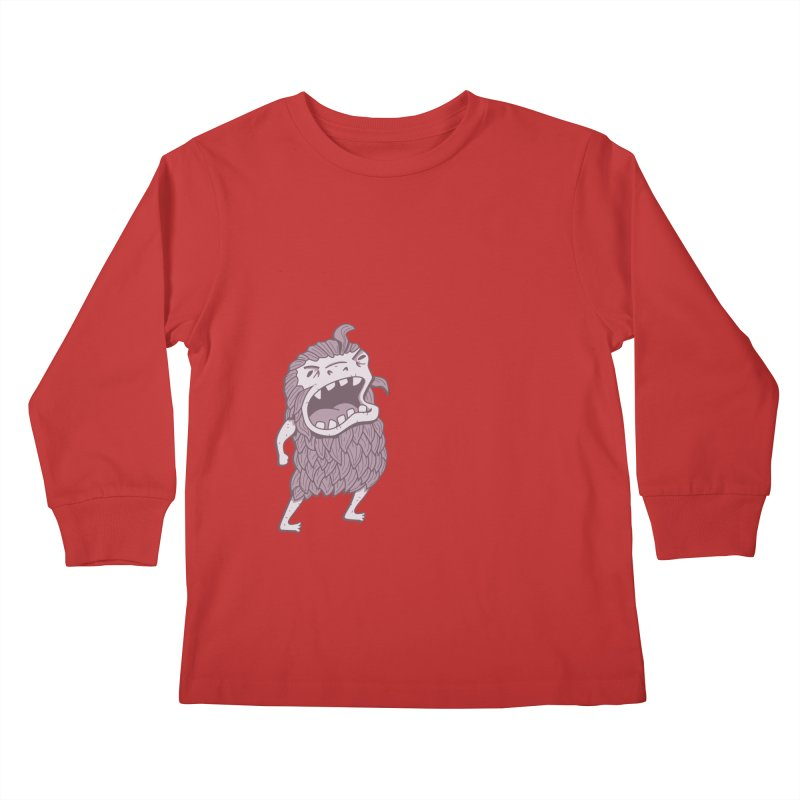 Sasquatch Kids Longsleeve T-Shirt by Damien Mason's Artist Shop
