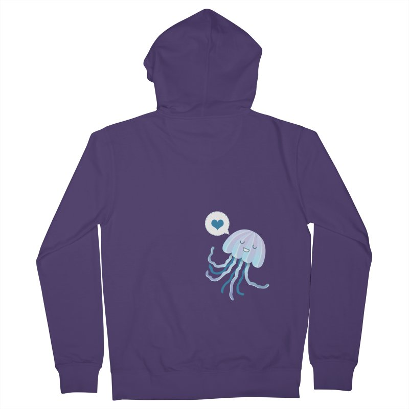 Jelly! Women's French Terry Zip-Up Hoody by Damien Mason's Artist Shop