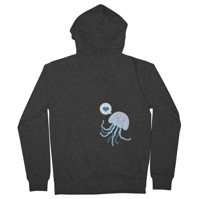 Jelly! Men's French Terry Zip-Up Hoody by Damien Mason's Artist Shop