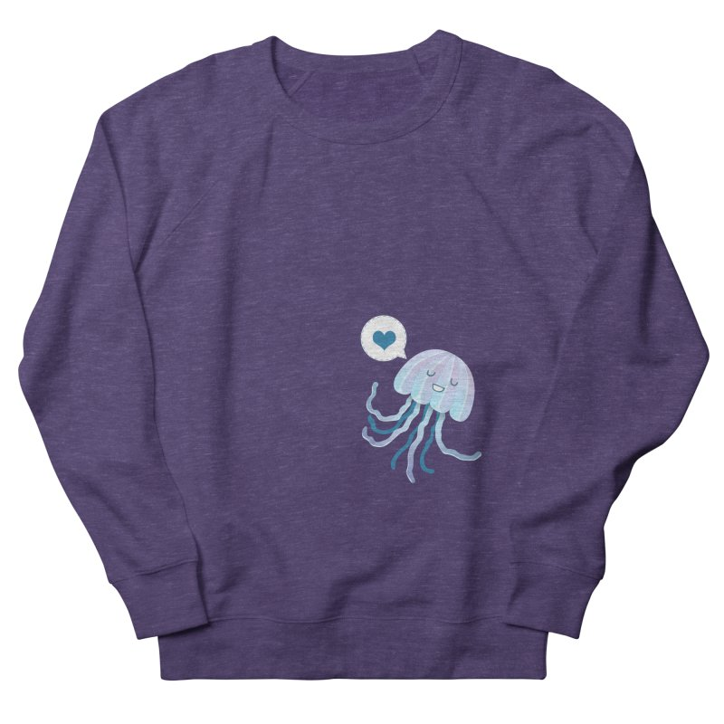 Jelly! Women's French Terry Sweatshirt by Damien Mason's Artist Shop