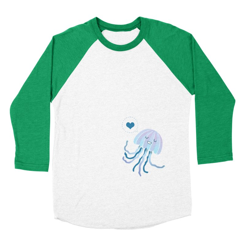 Jelly! Women's Baseball Triblend Longsleeve T-Shirt by Damien Mason's Artist Shop