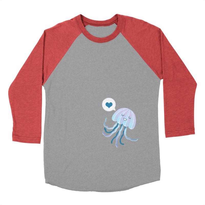 Jelly! Women's Baseball Triblend Longsleeve T-Shirt by Damien Mason's Artist Shop