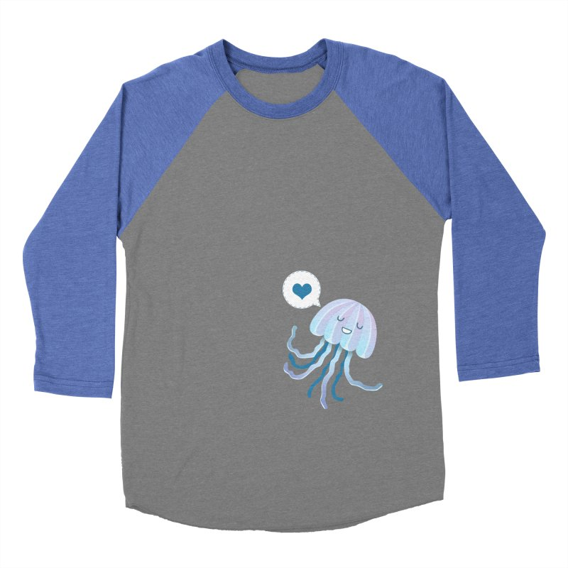 Jelly! Men's Baseball Triblend Longsleeve T-Shirt by Damien Mason's Artist Shop