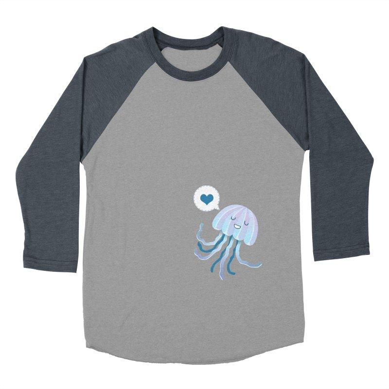 Jelly! Men's Baseball Triblend Longsleeve T-Shirt by Damien Mason's Artist Shop
