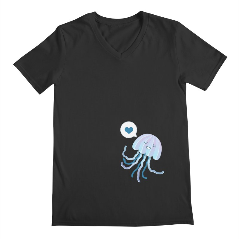 Jelly! Men's Regular V-Neck by Damien Mason's Artist Shop