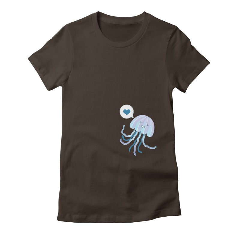 Jelly! Women's Fitted T-Shirt by Damien Mason's Artist Shop