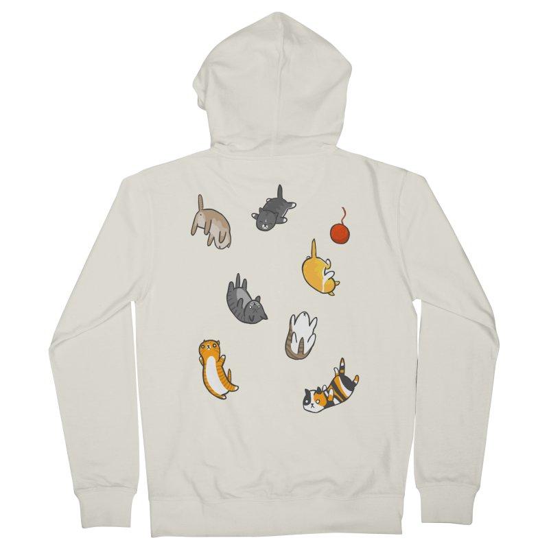 Kitten Rain Women's Zip-Up Hoody by Damien Mason's Artist Shop