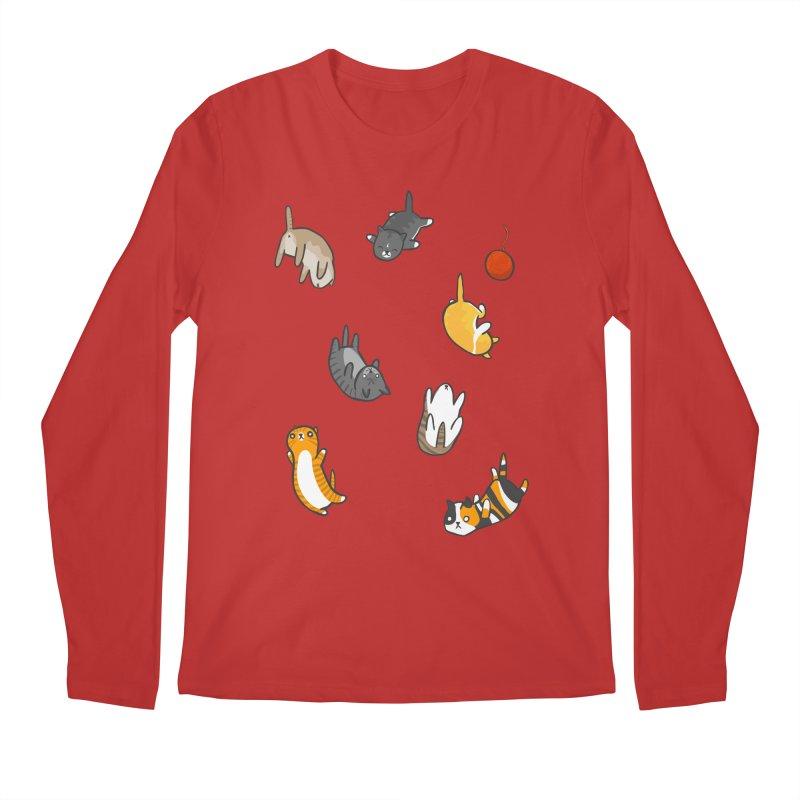 Kitten Rain Men's Longsleeve T-Shirt by Damien Mason's Artist Shop
