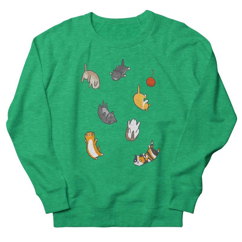 Kitten Rain Men's French Terry Sweatshirt by Damien Mason's Artist Shop