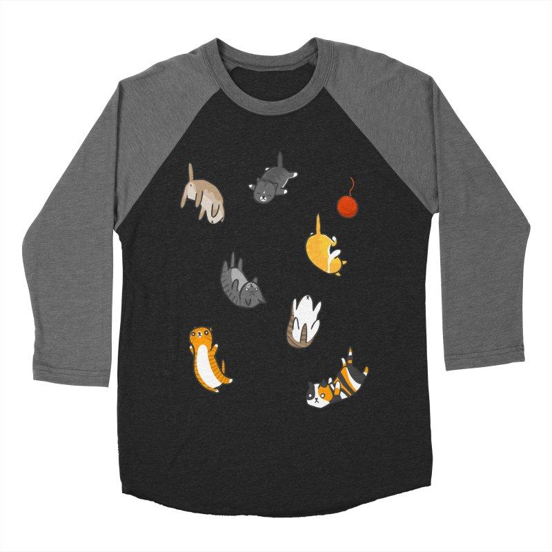 Kitten Rain Women's Baseball Triblend Longsleeve T-Shirt by Damien Mason's Artist Shop