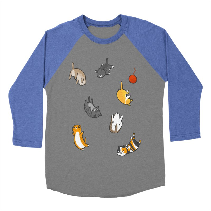 Kitten Rain Men's Baseball Triblend Longsleeve T-Shirt by Damien Mason's Artist Shop