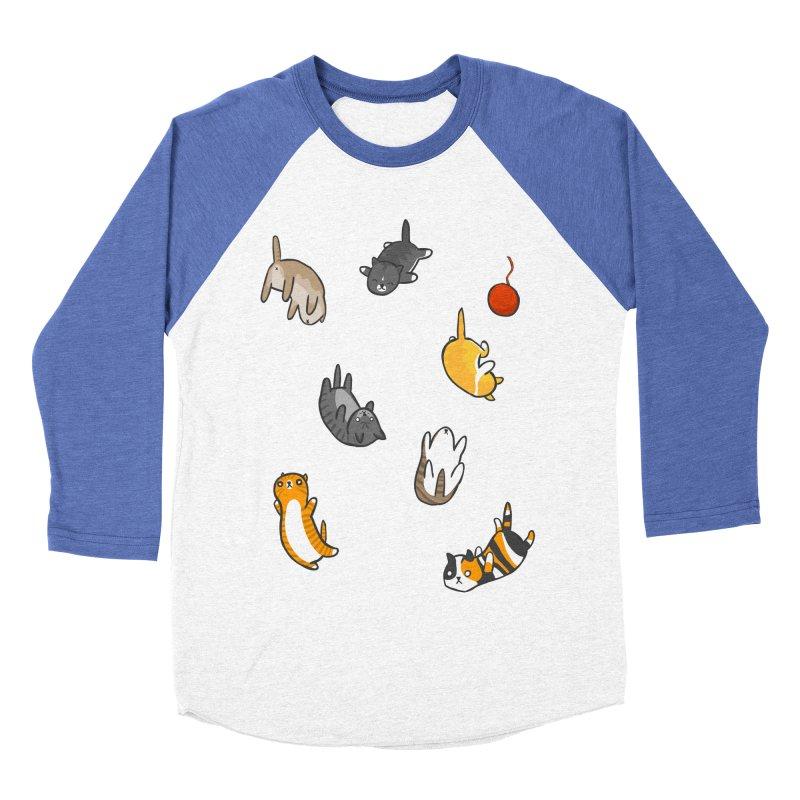 Kitten Rain Men's Baseball Triblend Longsleeve T-Shirt by Damien Mason's Artist Shop
