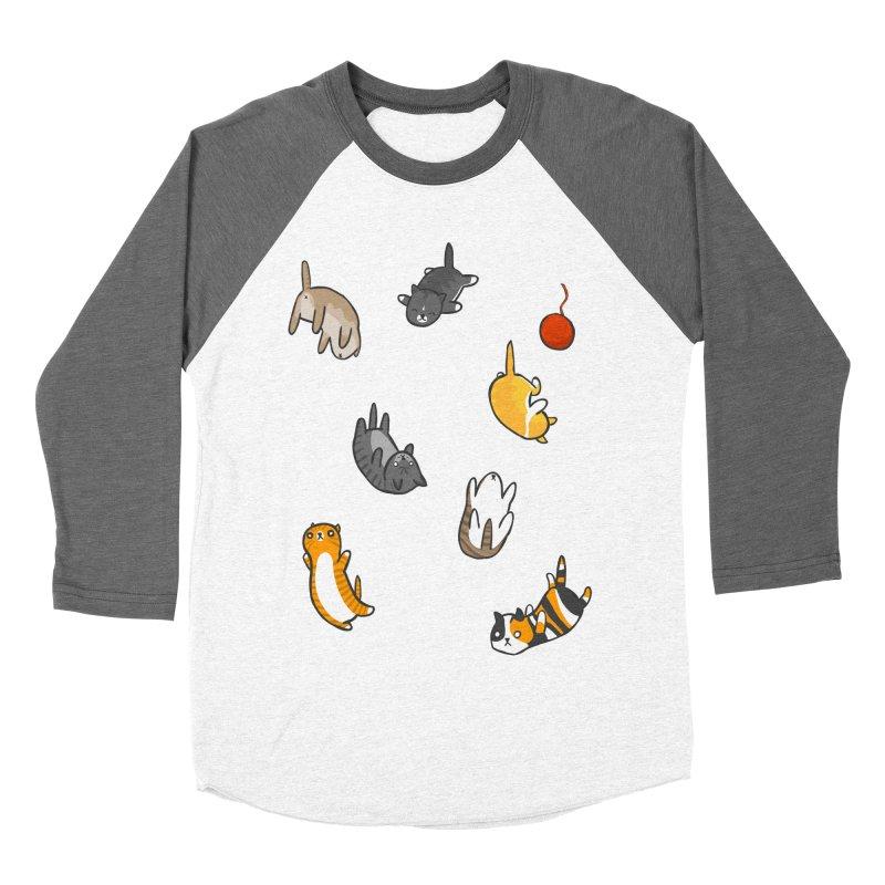 Kitten Rain Men's Baseball Triblend T-Shirt by Damien Mason's Artist Shop
