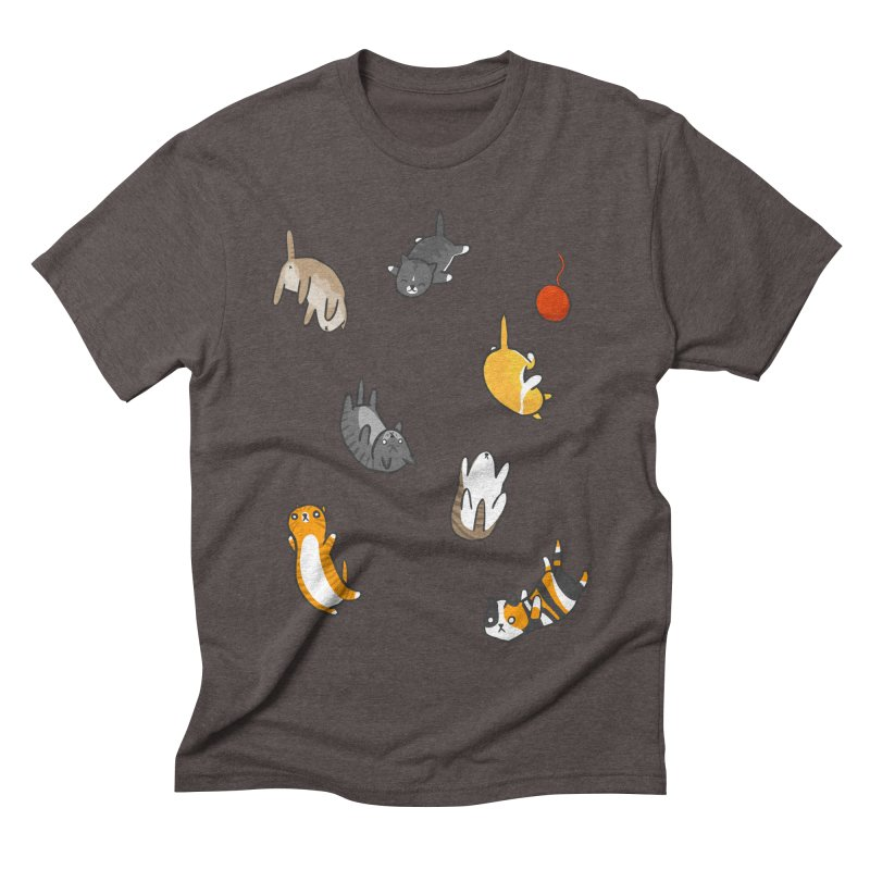 Kitten Rain Men's Triblend T-shirt by Damien Mason's Artist Shop