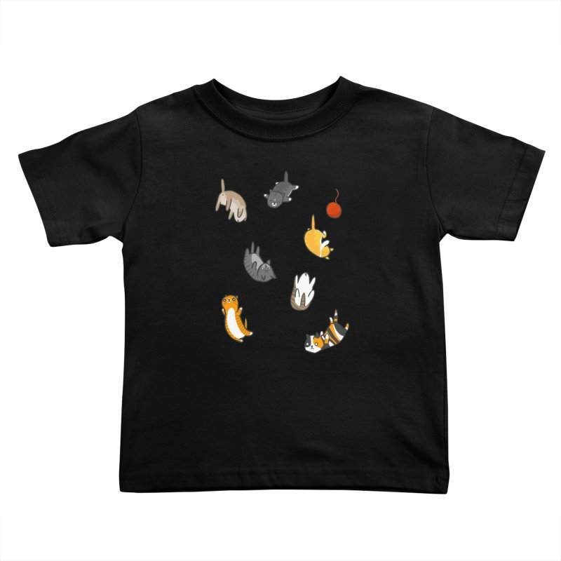 Kitten Rain Kids Toddler T-Shirt by Damien Mason's Artist Shop