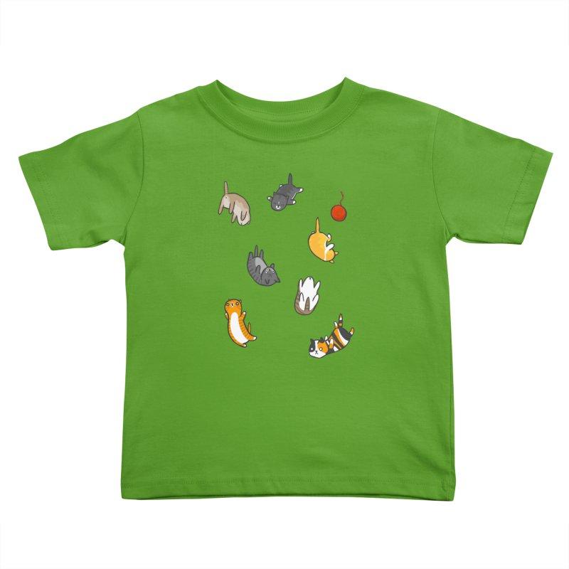 Kitten Rain Kids Toddler T-Shirt by Damien Mason's Artist Shop