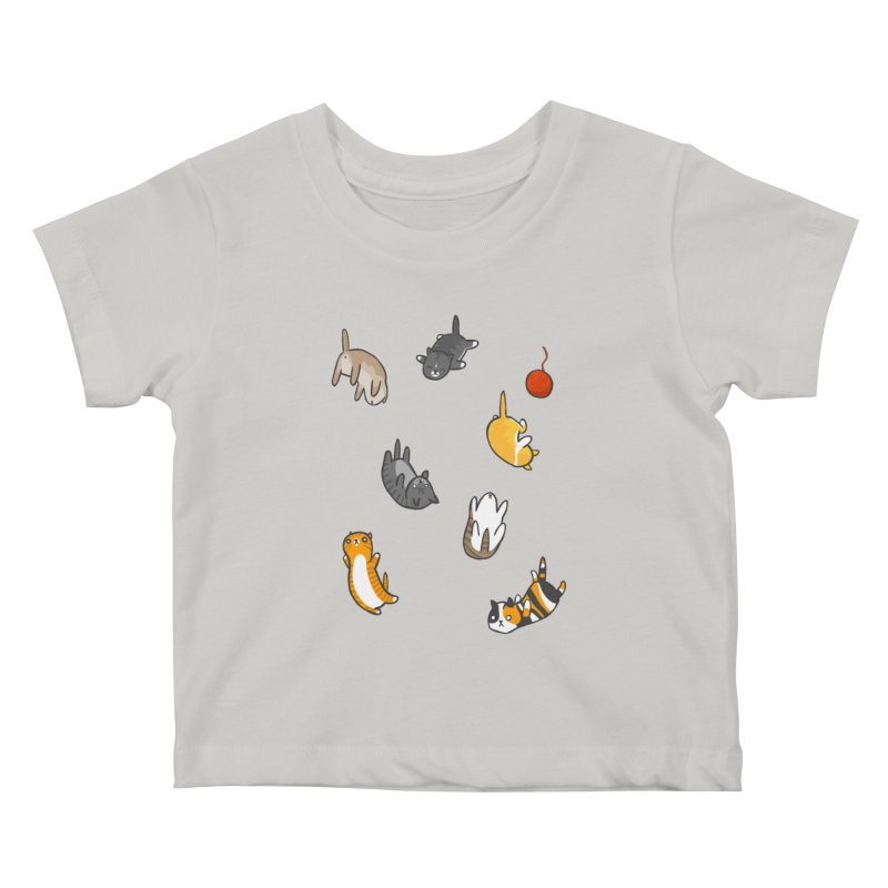 Kitten Rain Kids Baby T-Shirt by Damien Mason's Artist Shop